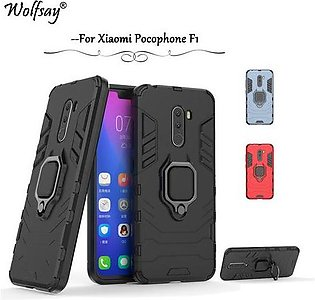 Branded For Xiaomi Pocophone F1 Shockproof Armor Silicone Cover Hard PC Phone...
