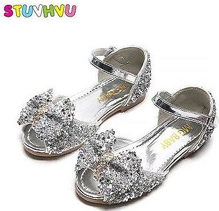 Branded Kids Girl Sandals Sequin Leather Princess Shoes 2020 Summer New Child...