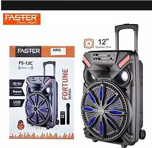 FASTER FS-12C Fortune Series Portable Subwoofer 12-inch Trolley Outdoor Bluetoo…