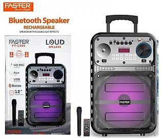 FASTER FT-1201 Outdoor Super Bass 12-inch Portable Bluetooth Speaker With Mic