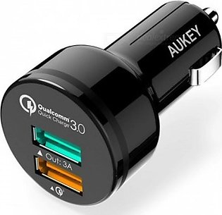 Aukey Dual Port Car Charger with Quick Charge 3.0 CC-T7