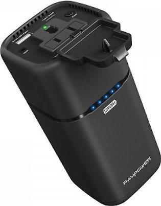 RAVPower Power Bank 20100mAh Built-in AC Outlet Universal Travel Charger
