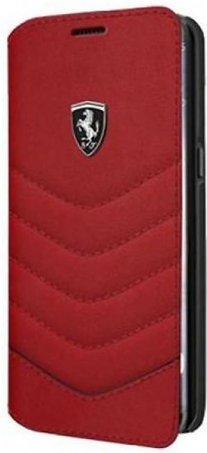 Scuderia Ferrari Genuine Leather Quilted Book Type Samsung Galaxy S8