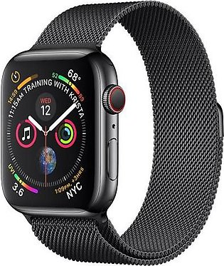 Apple Watch Series 4 44mm Space Black Stainless Steel Case with Space Black Mil…