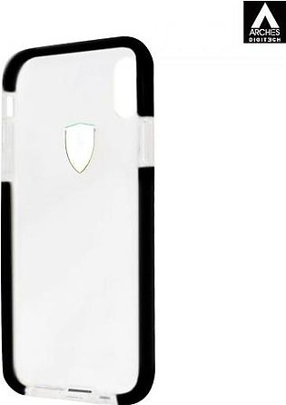 Ferrari Transparent Back Cover for iPhone X with Black Shockproof Edges