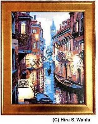 -Inspired Art- Canvas Painting - Evening in Venice