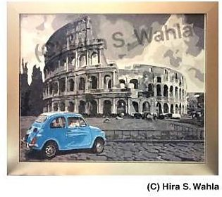 -Inspired Art- Canvas Painting - Rome s Colosseum