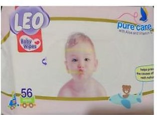 LEO Pure care baby wipes 56wipes