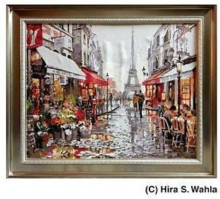-Inspired Art- Canvas Painting - Evening in Paris