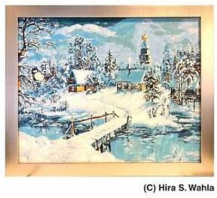 -Inspired Art- Canvas Painting - Winter Scenery Snow-covered