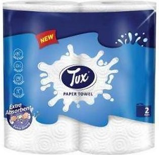 Tux Tissue Kitchen Towel Twin Roll 2ply Pack of 1