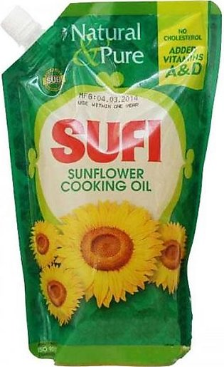 Sufi Sunflower Cooking Oil Pouch 1ltr