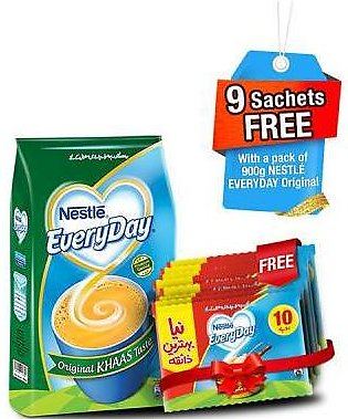 Free 9 Everyday 9gm Sachets With Everyday 900gm Pack