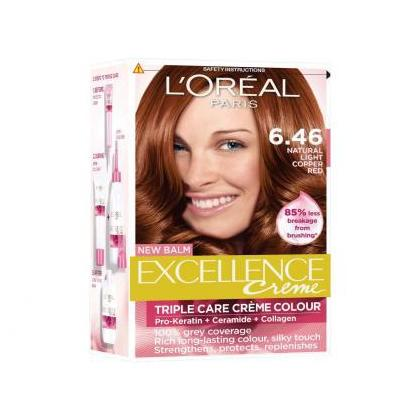 L'Oreal Paris Excllence Creme Colour 6.46 Ruby Red Pack of 1
