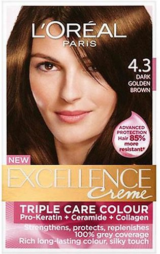 Loreal Excl Hair Color Golden Brown #4.3