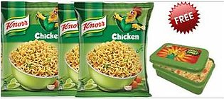 Free Knorr Lunch Box with 3 Block Noodels Chicken 66gm