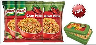 Free Knorr Lunch Box with 3 Block Noodels Chatpata 66gm