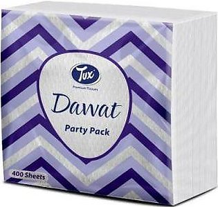 Tux Tissue Dawat Party Pack White Embossed 400 Sheets