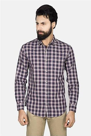 Casual Shirt F/S CHK C19302-BR