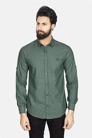 RT Casual Shirt F/S PL P19101-GN - M