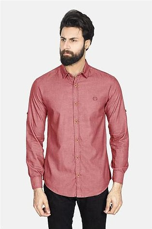 RT CASUAL SHIRT F/S PL P19102-MR - M