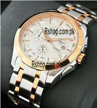 Tissot Coutourier White Dial Chronograph Watch