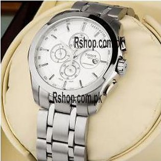 Tissot Couturier White Dial Chronograph Watch