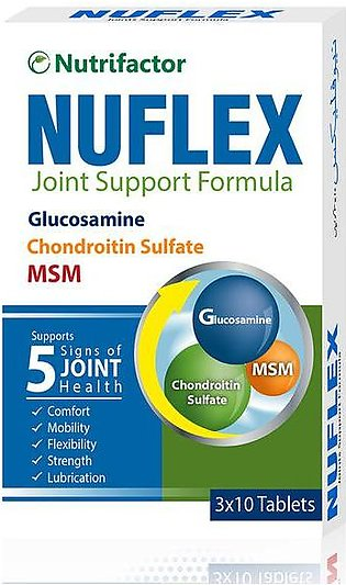 Nutrifactor Nuflex Joint Support Formula 30 Tablets