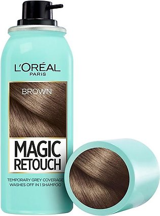 L'oreal Paris Magic Retouch Root Touch Up Hair Color Spray - Brown 75ML