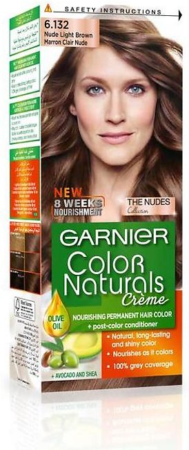Garnier Color Naturals Hair Color Creme Nude Light Brown 6.132