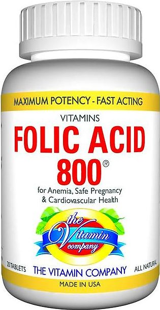 The Vitamin Company Vitamins Folic Acid 800 (20 Tablets)