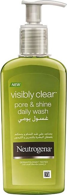 Limited Stock Neutrogena Visibly Clear Pore & Shine Daily Wash 200ml