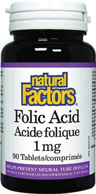 Natural Factors Folic Acid 1 MG (90 Tablets)