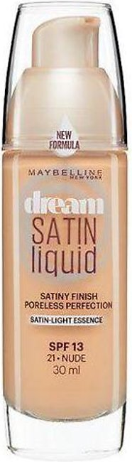 Maybelline Dream Satin Liquid Foundation Nude 21
