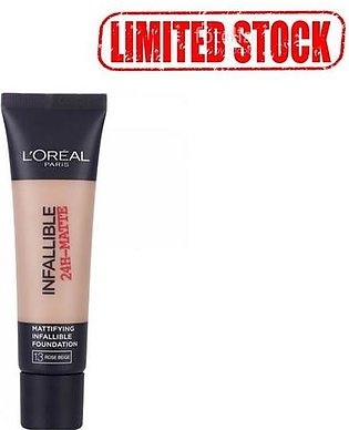L`Oreal Paris Infallible 24H Matte Foundation 13 Natural Beige (Limited Stock)