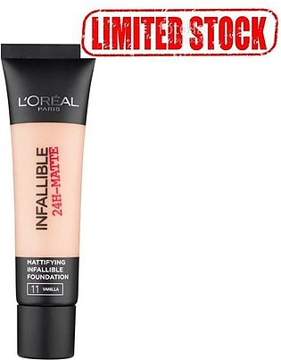 L`Oreal Paris Infallible 24H Matte Foundation 12 Natural Rose (Limited Stock)