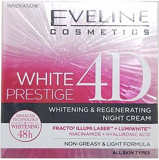 Eveline White Prestige 4D Intensive Whitening Night Cream 50 ML