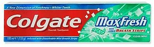 Colgate Max Fresh with Mini Breath Strips Clean Mint Toothpaste 100 ML