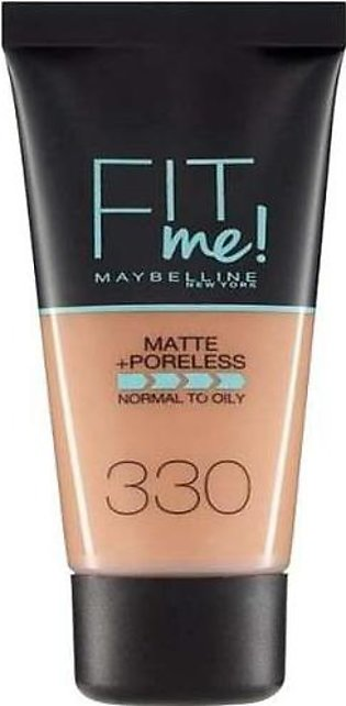 Maybelline Fit Me Matte & Poreless Foundation 330 Toffee Caramel