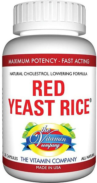 The Vitamin Company Red Yeast Rice 20 Capsules