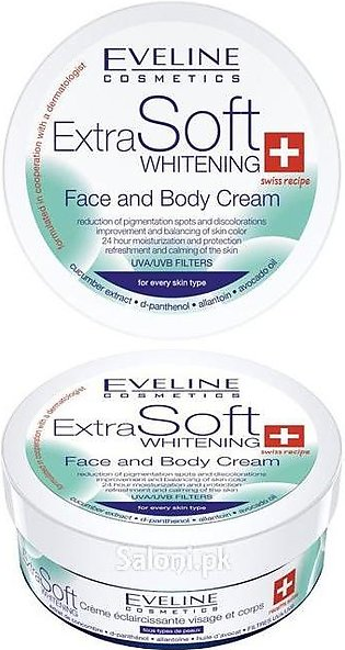 Eveline Extra Soft Face And Body Whitening Cream 200 ML