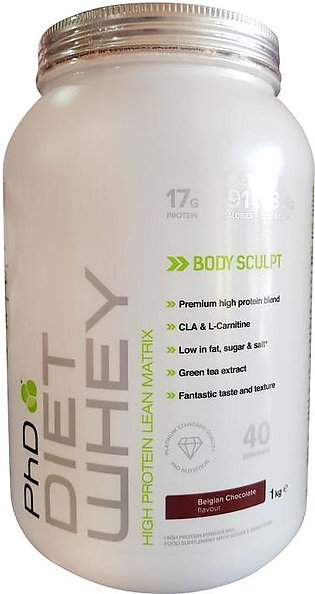 PhD Diet Whey Protein Body Sculpt Belgian Chocolate 1 Kg