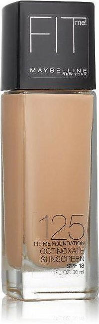 Maybelline Fit Me Foundation Nude Beige 125