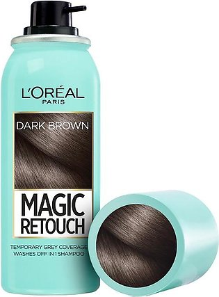 L'oreal Paris Magic Retouch Root Touch Up Hair Color Spray - Dark Brown 75ML