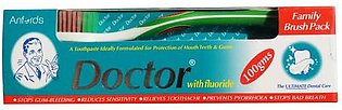 Doctor Toothpaste With Fluoride 100g Family Brush Pack