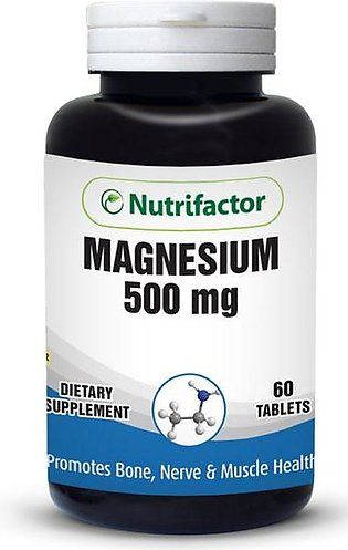 Nutrifactor Magnesium 500mg (60 Tablets) Dietary Supplements
