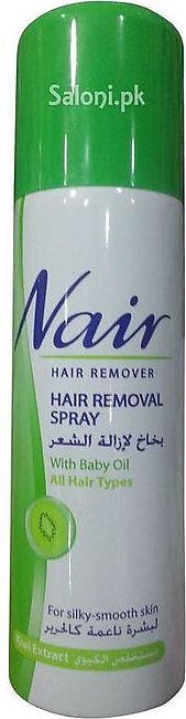 Nair Hair Removal Spray With Baby Oil Kiwi Extract 200 ML