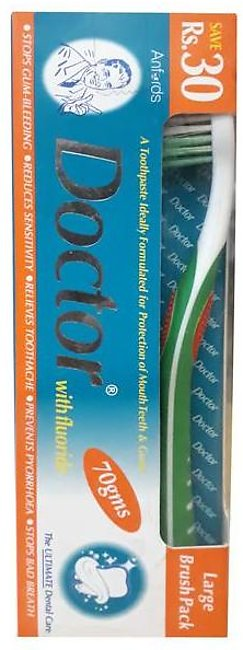 Doctor Toothpaste With Fluoride Large Brush Pack 70 gm