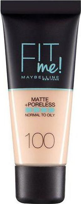 Maybelline Fit Me Matte & Poreless Foundation 100 Warm Ivory