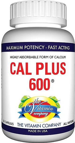 The Vitamin Company Cal Plus-600 20 Tablets